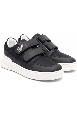 Emporio Armani Kids Touch-strap low-top sneakers