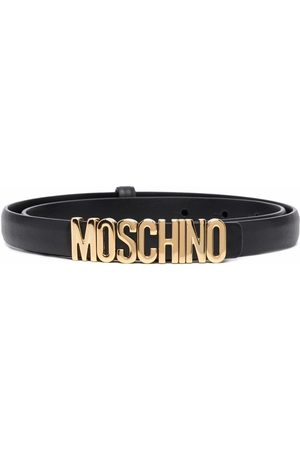 Moschino Logo-lettering leather belt