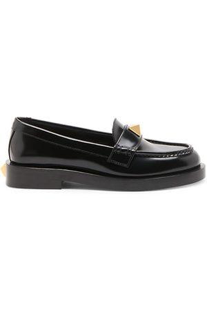 VALENTINO Roman Stud Leather Loafers