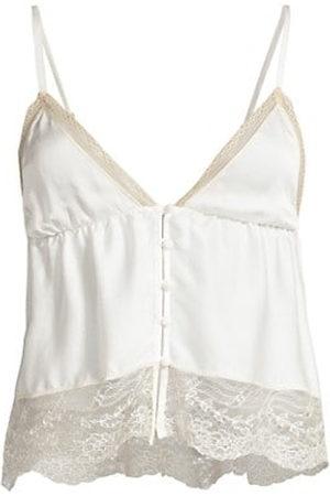 Kiki de Montparnasse Women Vests - Tiered Lace-Trim Silk Camisole