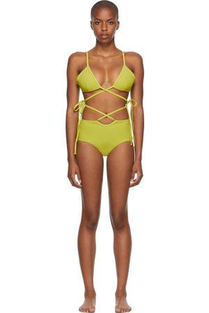 Christopher Esber Green Wrapped Tie & Loop Tie Bikini