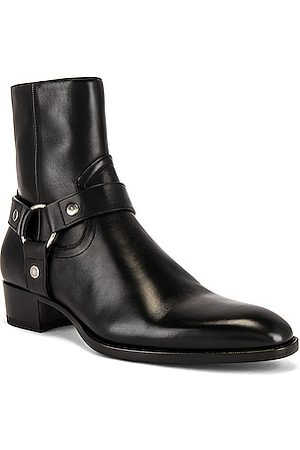 Saint Laurent Wyatt 40 Harness Boot in