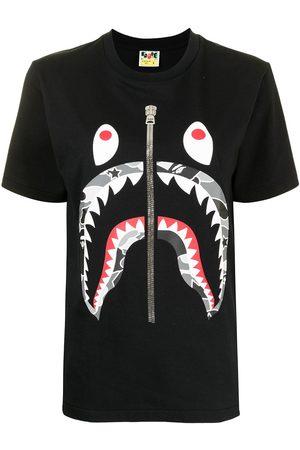 A Bathing Ape Shark camouflage pattern T-shirt