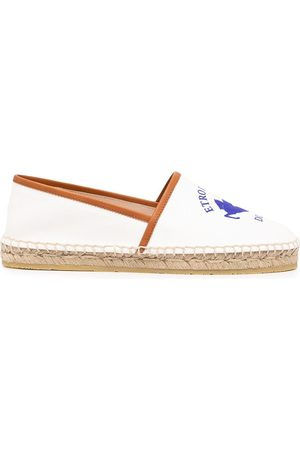 Etro Women Casual Shoes - Logo-print leather-trim espadrilles