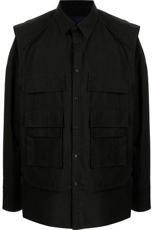 JUUN.J Men Shirts - Multiple pocket cotton shirt jacket