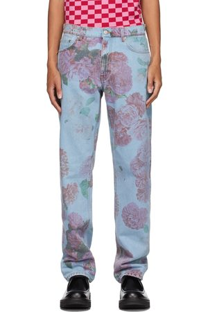 Molly Goddard SSENSE Exclusive Blue Printed Otto Jeans