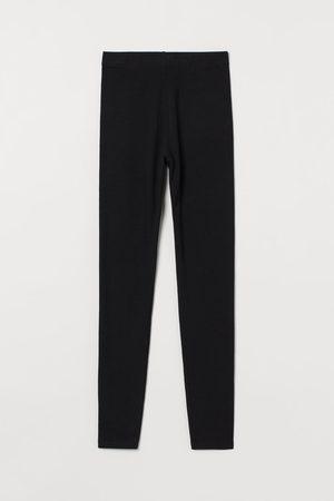 H & M Cotton jersey leggings