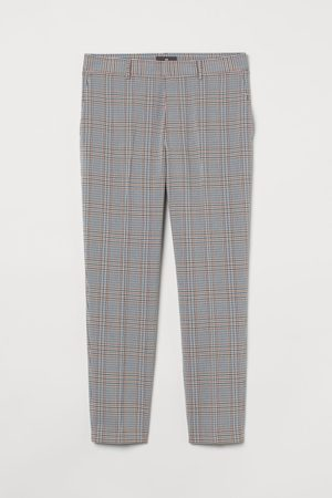H&M Men Slim Trousers - Slim Fit Cropped trousers