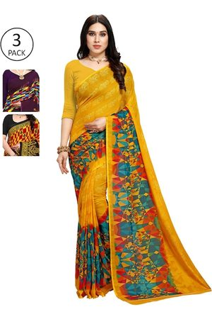 KALINI Women Pack of 3 Printed Saree