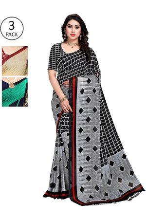 KALINI Women Multi Printed Pack of 3 Sarees