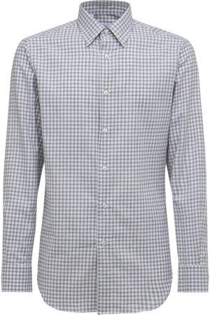 BRIONI Check Cotton Cashmere Shirt
