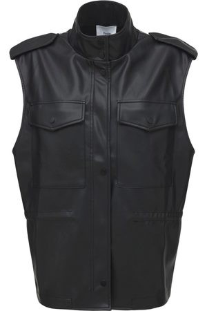 The Frankie Shop Women Leather Jackets - Ines Faux Leather Cargo Vest