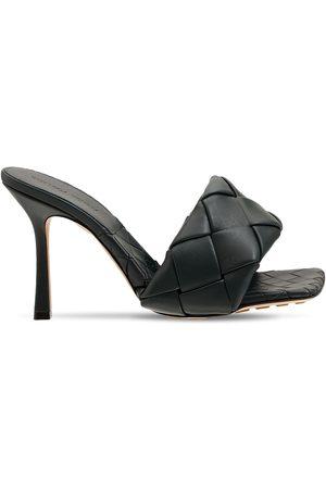 Bottega Veneta Women Platform Sandals - 90mm Lido Woven Leather Slide Sandals