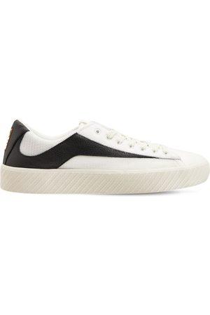 By Far Women Sneakers - 30mm Rodina Leather & Mesh Sneakers