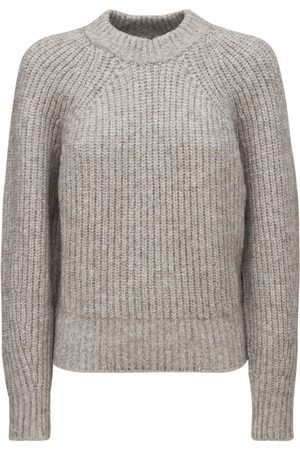 Isabel Marant Women Jumpers - Rosy Fluffy Cotton Blend Knit Sweater