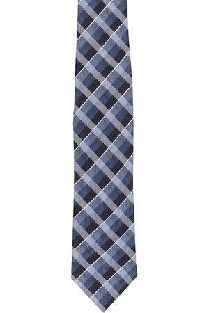 Alvaro Castagnino Men Blue & Black Woven Design Broad Tie