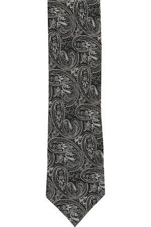 Alvaro Castagnino Men Grey Woven Design Broad Tie