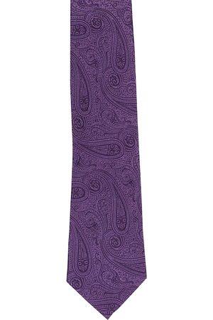 Alvaro Castagnino Men Purple Woven Design Broad Tie