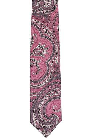 Alvaro Castagnino Men Pink & White Printed Broad Tie