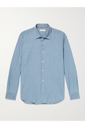 Loro Piana Men Casual - Arthur Preston Cotton-Chambray Shirt