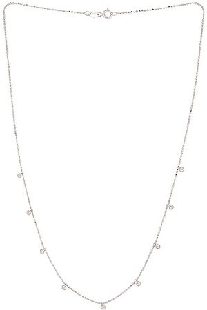 STONE AND STRAND Teeny Dangling Diamond Bead Chain Necklace in & Diamond