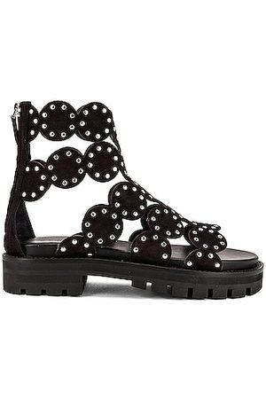 Alaïa Women Platform Sandals - Cage Sandals in Noir