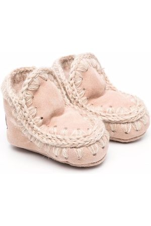 Mou Kids Wellingtons - Knitted border boots