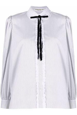 Alessandra Rich Striped Peter Pan collar shirt