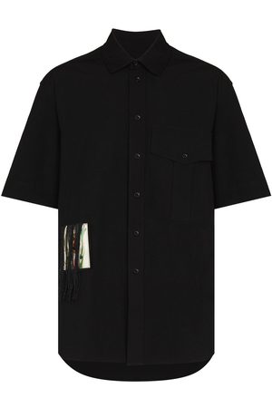 SONG FOR THE MUTE Men Short sleeves - Fringed patch short-sleeve shirt