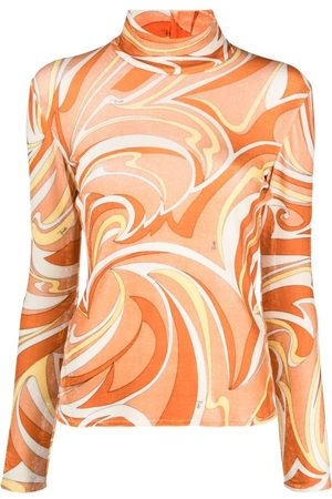 Emilio Pucci Women Tops - Abstract print lightweight high-neck top