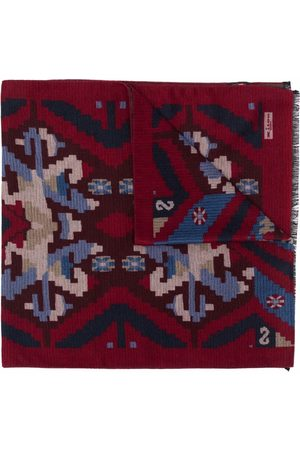 Kiton Graphic print scarf