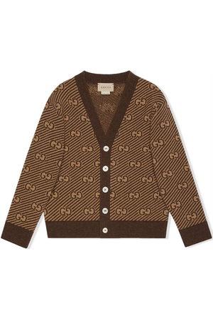Gucci Cardigans - GG stripe wool cardigan