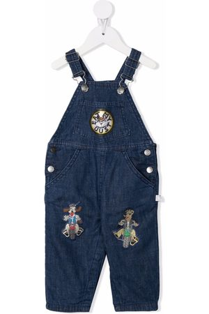 Stella McCartney Dungarees - Embroidered patch denim dungarees