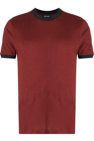 Armani Short-sleeved two-tone T-shirt