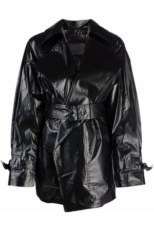 CHRISTIAN WIJNANTS Women Leather Jackets - Cyras belted faux leather jacket