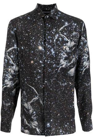 Emporio Armani Graphic-print concealed shirt