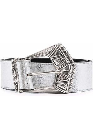 Etro Engraved-buckle leather belt
