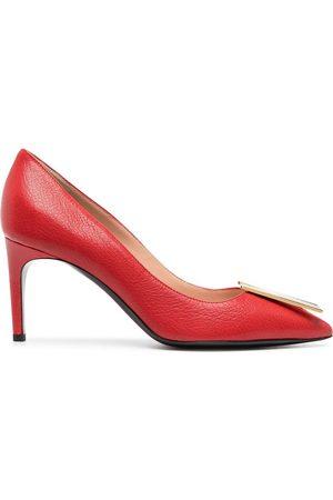 Moschino Women Heels - Logo-plaque pumps