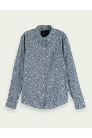 Scotch&Soda Women Long Sleeve - & White Regular Fit Printed shirt