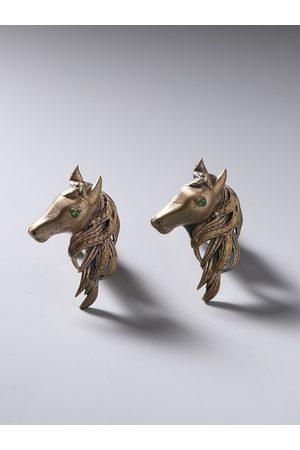 COSA NOSTRAA Bronze-Toned The Royal Horse Cufflinks