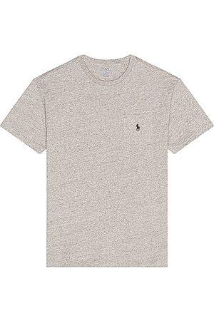 Polo Ralph Lauren Men Polo Shirts - SS CN Pocket T-Shirt in Dark Vintage Heather