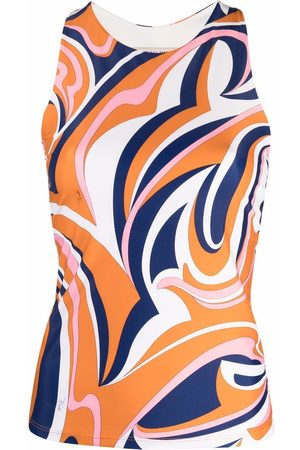 Emilio Pucci Women Tank Tops - Abstract-print sleeveless stretch top