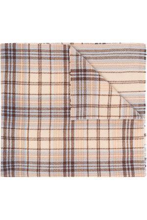 Acne Studios Scarves - Tartan logo scarf