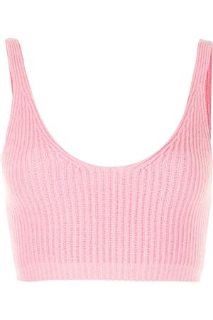 Cashmere In Love Reese ribbed-knit cropped vest