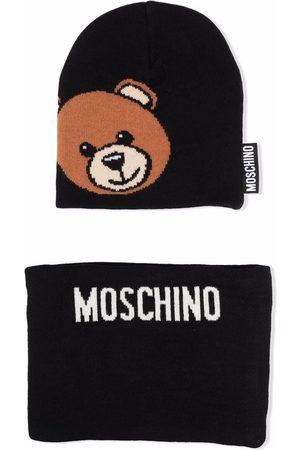 Moschino Teddy Bear motif knitted cap