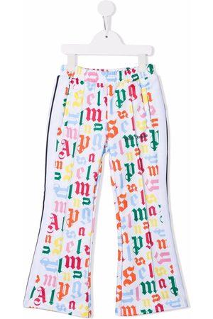 Palm Angels Logo-print flared trousers
