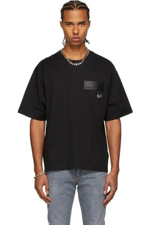 Men Short Sleeve - Dolce & Gabbana Faux-Leather Patch T-Shirt