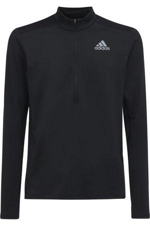 adidas Men Sports T-shirts - Primegreen 1/2 Zip L/s Running T-shirt