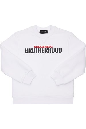 Dsquared2 Boys Sweatshirts - Logo Print Cotton Sweatshirt