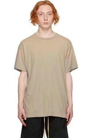 Men Short Sleeve - Fear of God Beige 'FG' T-Shirt